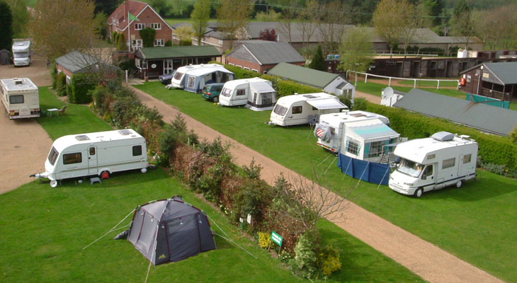 Fakenham campsite pitches