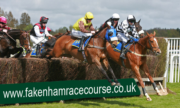 Racing at Fakenham racecourse